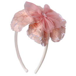 Isobella & Chloe Fairy Tale Hard Headband - Light Pink
