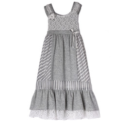 Isobella & Chloe Pebbles Empire Dress - Gray