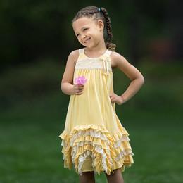 Isobella & Chloe Dandelion Darling Dress - Yellow