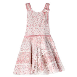 Isobella & Chloe Blushing Petals Lace Dress - Pink