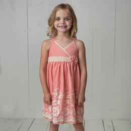 Isobella & Chloe Sweetwater Empire Waist Dress - Coral