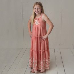Isobella & Chloe Sweetwater Maxi Dress - Coral