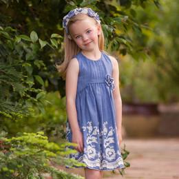 Isobella & Chloe Sweetwater Empire Waist Dress - Blue