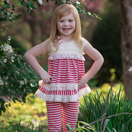 Isobella & Chloe Cherry On Top 2pc Tunic & Pant Set - Red