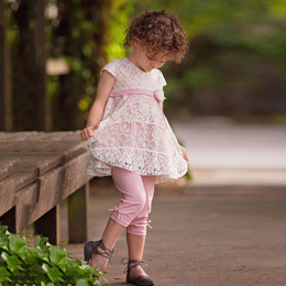 Isobella & Chloe Blushing Petals 2pc Tunic & Legging Set - Pink