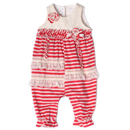 Isobella & Chloe Cherry On Top Romper - Red