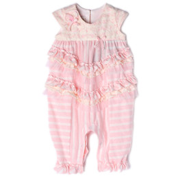 Isobella & Chloe Bubbles Romper - Light Pink