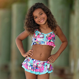Isobella & Chloe Eureka 2pc Skirted Swimsuit - Multi