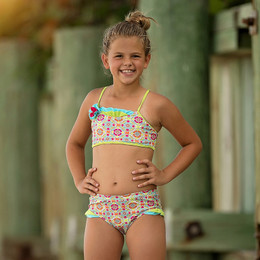 Isobella & Chloe Groovy Get Away 2pc Swimsuit - Green