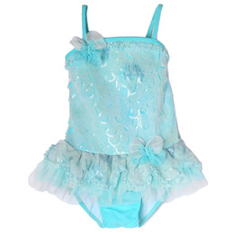 Isobella & Chloe Mermaid Dance 1pc Swimsuit - Light Blue