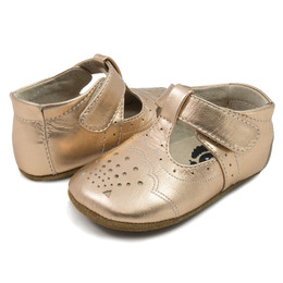 Livie & Luca Cora Baby Shoes - Rosegold Metallic (Spring 2018)