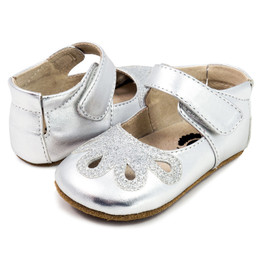 Livie & Luca Petal Baby Shoes - Platinum (Spring 2018)