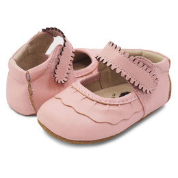 Livie & Luca Ruche Baby Shoes - Shell Pink (Spring 2018)