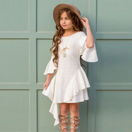 Joyfolie Milly Dress - Ivory