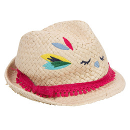 Catimini Nomade Tropical Garden Straw Bird Hat
