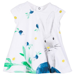 Catimini Graphic City Botanical Garden Bunny Bubble Dress