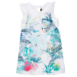 Catimini Nomade Garden Oasis Jungle Swimmer Dress