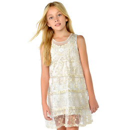 Mayoral Lace Overlay Dress