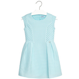 Mayoral Classic Front Pleated Dress - Aqua