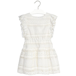 Mayoral Fringed Lace Dress
