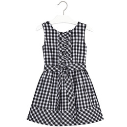 Mayoral Gingham Print Vichy Dress