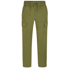 Mayoral Flowy Beaded Cargo Style Pants
