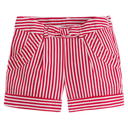 Mayoral A Stylish Girl Striped Shorts w/Bow Accent