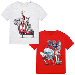 Mayoral Jungle Animals On The Go Tees - 2 Pack!