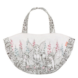 Paper Wings Garden Fairies Retro Tote