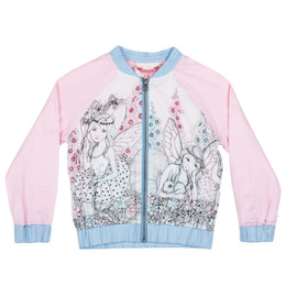 Paper Wings Garden Fairies Light Weight Bomber Jacket