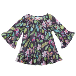 Paper Wings Tropical Frilled Cover-Up