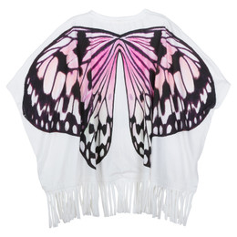 Paper Wings Butterfly Wings Fringed Beach Poncho