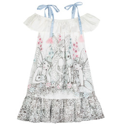 Paper Wings Garden Fairies Frilled Off Shoulder Dress