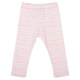 Paper Wings Marker Stripe 3/4 Leggings - Cream / Pink