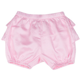 Paper Wings Frilled Sateen Bloomers - Pale Pink