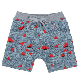 Paper Wings Red Sharks Trackie Shorts