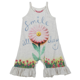 Paper Wings Smile All Day Frilled Singlet Romper