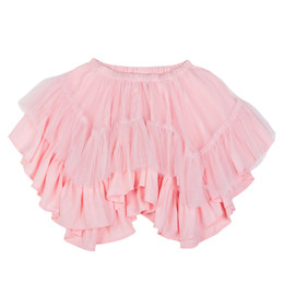 Paper Wings Frilled Tulle Skirt - Light Pink
