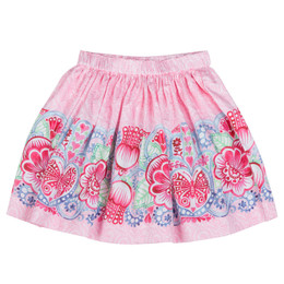 Paper Wings India Border Gathered Skirt