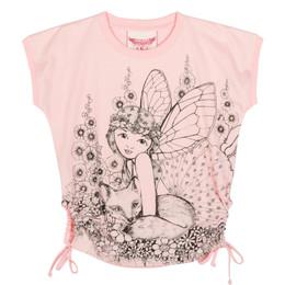 Paper Wings Fairy Sketch Keyhole Tee