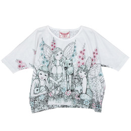 Paper Wings Garden Fairies Oversized Tee
