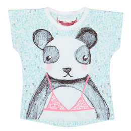 Paper Wings Beach Panda Simple Tee