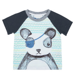 Paper Wings Pirate Panda Raglan Tee