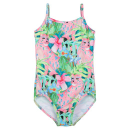 Paper Wings Pink Leopard Classic 1pc Swimsuit