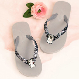 Joyfolie Jewel Flip Flops - Gray