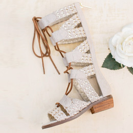Joyfolie Vilette Gladiator Sandals - Gold
