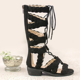 Joyfolie Vilette Gladiator Sandals - Black