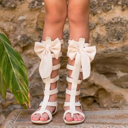 Joyfolie Alexa Gladiator Sandals - Gardenia