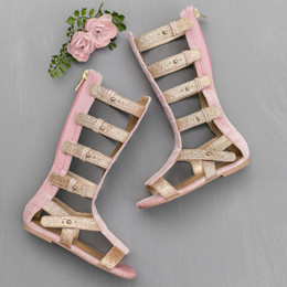 Joyfolie Finley Gladiator Sandals - Rose