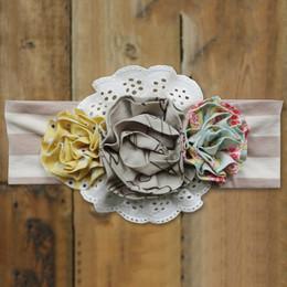 Mustard Pie Sweet Pea Flora Headband - Stripe